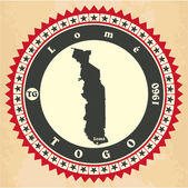 Vintage label-sticker cards of Togo. — Stock Vector