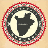 Vintage label-sticker cards of Burundi.  — Stock Vector