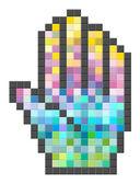 Barevné pixelated počítač kurzor. — Stock vektor