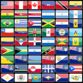 Elements of design icons flags of the continent of America.  — Stock Vector