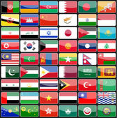 Elements of design icons flags of the countries of Asia.  — Stockvektor