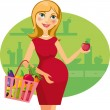 Healthy_food_for_pregnant_woman — Stock Vector #13368333