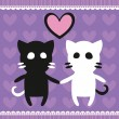 Cats_in_love — Vector de stock