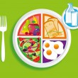 Breakfast_my_plate — Stock Vector