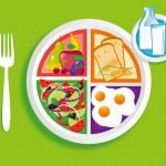 Breakfast_my_plate — Stock Vector