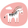 Cute_zebra - Stock Vector