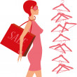 Stock Vector: Fashion_shopping_girl