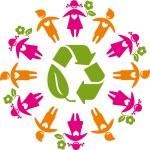 Eco_friendly_planet — Stock Vector