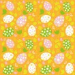 Easter_orange_background - Stok Vektr