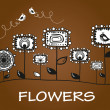 Flowers_card — Image vectorielle