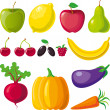 Fruits_vegetables — Stock Vector