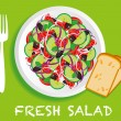 Fresh_salad - Stock Vector