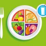 My_plate_dinner — Stock Vector