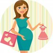 Pregnant_woman — Stock Vector