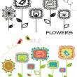 Set_of_flowers - Stock Vector