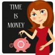 Time_is_money - Stock Vector