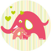 Cute_elephants — Stock Vector