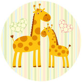 Cute_giraffe — Stock Vector