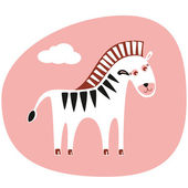 Cute_zebra — Stock Vector
