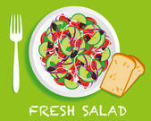 Fresh_salad — Stock Vector