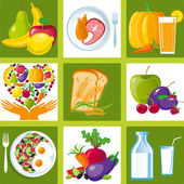 Healthy_food_icons — Stock Vector
