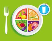 My_plate_dinner — Vector de stock