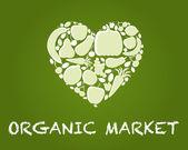 Organic_market — Stock Vector