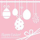 Pink_easter_card — Stock Vector