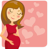 Pregnancy — Stock Vector