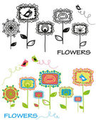 Set_of_flowers — Stock Vector