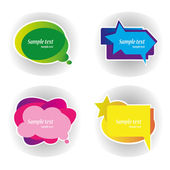 Speech_bubbles — Stock Vector