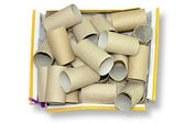 Cardboard tube — Stock Photo