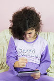 Girl in pajamas — Stock Photo