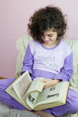 Girl in pajamas — Stockfoto