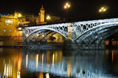 Bridge at night — Stockfoto