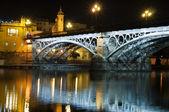Bro på natten — Stockfoto