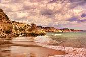 Coves and cliff in the Beach — Stock Photo