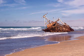 Ship wreck on sea — Stock Photo