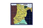 Map province lleida — Stock Photo