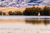 Lake and sky — Stock Photo