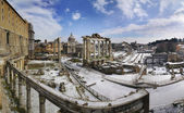 Sníh na foro romano — Stock fotografie