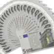 Fan of euro - Stock Photo