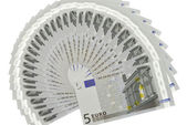 Fan of euro — Stock Photo