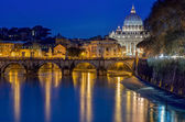 Rome landscape by night — Stock Photo