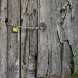 Stock Photo: Chained and padlocked door