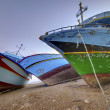 Stock Photo: Confiscated clandestine boats