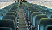 Aircraft seating view — Foto de Stock