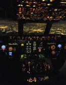 Night flight — Stock Photo