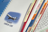 Airplane operations manual — Stock Photo