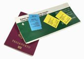 Airline ticket and passport — Foto Stock